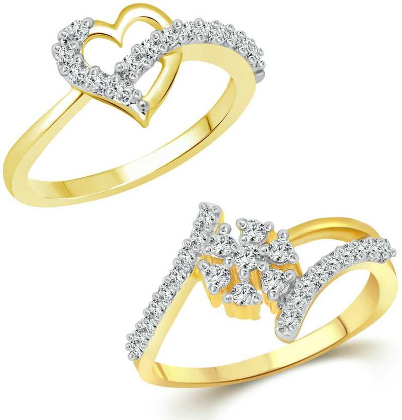 52213616c8b Finger Touch Heart Combo Rings for Women and Girls [1076FRG-1071FRG ...